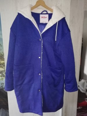 Kuschlige Blaue Jacke mit Kapuze Gr. 44-Neu-John Baner