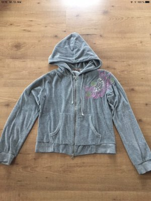 Kuschlige graue Sweatshirt Jacke