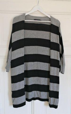 Even & Odd Knitted Coat black-light grey viscose