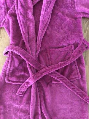 Kuschliger Bademantel°dunkles pink°s/m°100% Polyester°Gr. S/M°36°NEU, nur gewaschen