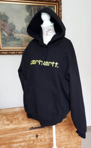 Carhartt Jersey con capucha negro-amarillo neón