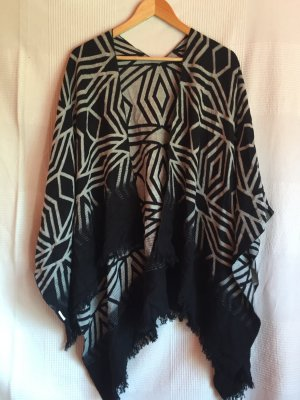 Pimkie Poncho black-silver-colored polyester