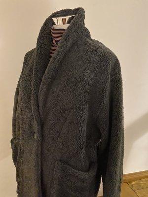 American Vintage Cappotto in eco pelliccia grigio scuro