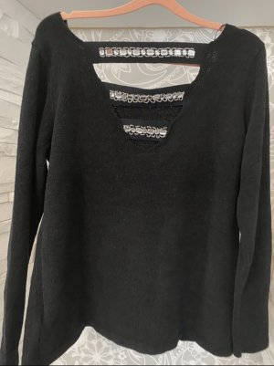 Bonbrix Crewneck Sweater black-silver-colored