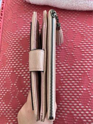 Portefeuille gris anthracite-vieux rose