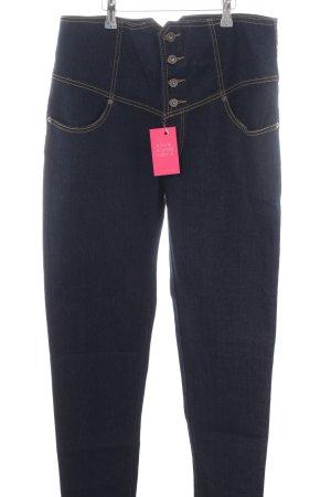 Kustom Hoge taille jeans blauw casual uitstraling