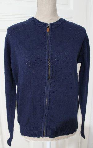 Kuyichi Giacca in maglia blu scuro-blu Lino
