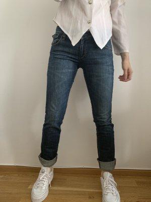 Kuyichi Jeans a sigaretta blu-blu scuro
