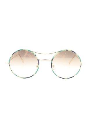 Kyme Okrągłe okulary przeciwsłoneczne zielony-złoto W stylu casual