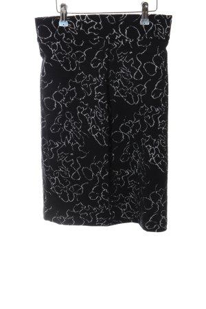 Kyra&Ko Bleistiftrock schwarz-weiß abstraktes Muster Casual-Look