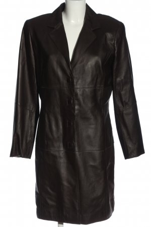 Kyria by K.M. Skórzany płaszcz czarny W stylu casual