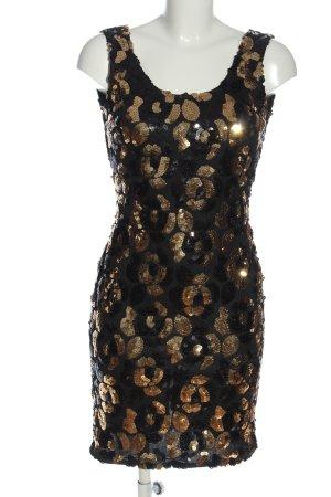 L.A. Glo Vestido de lentejuelas negro-color oro estampado floral