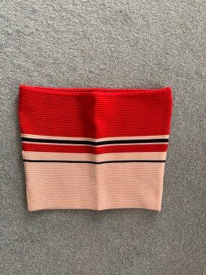 La Hearts Top z dekoltem typu bandeau czerwony-różowy