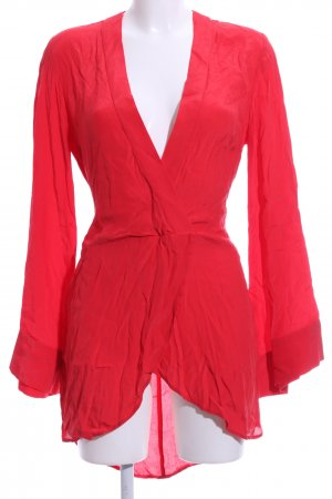 L'academie Long-Bluse rot Casual-Look