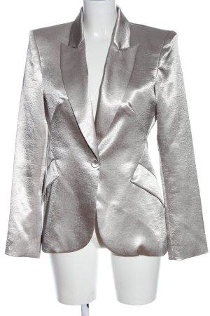 L'Agence Blazer corto argento elegante