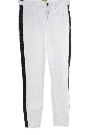 L'Agence Jeans a sigaretta bianco-nero stile casual