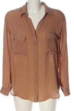 L'Agence Blusa in seta marrone stile casual