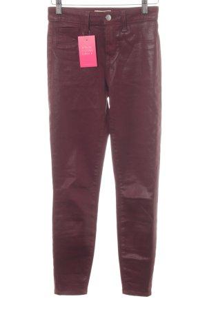 L'Agence Skinny Jeans dunkelrot Street-Fashion-Look