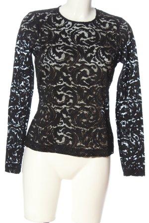 L'Agence Blusa in merletto nero stile casual