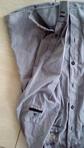 Largentina Blusa de manga larga blanco-azul