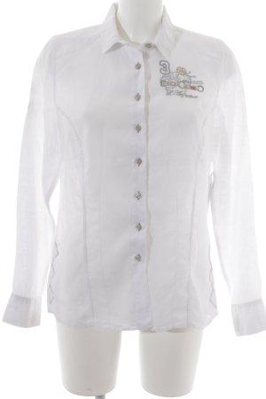 L'Argentina Hemd-Bluse beige-silberfarben extravaganter Stil