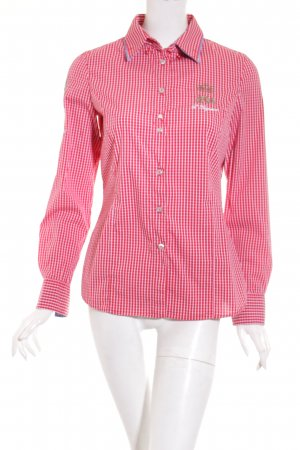 L'Argentina Shirt Blouse dark red-white check pattern casual look