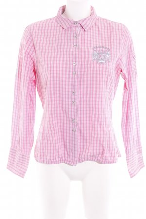 L'Argentina Hemd-Bluse rosa-weiß Karomuster Business-Look