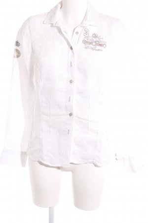 L'Argentina Long Sleeve Blouse white casual look