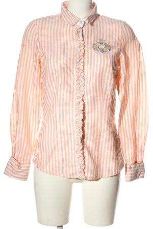 L'Argentina Long Sleeve Shirt light orange-white striped pattern