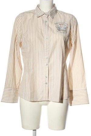 L'Argentina Long Sleeve Shirt cream-white allover print elegant