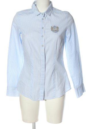 L'Argentina Langarmhemd blau-weiß Streifenmuster Casual-Look