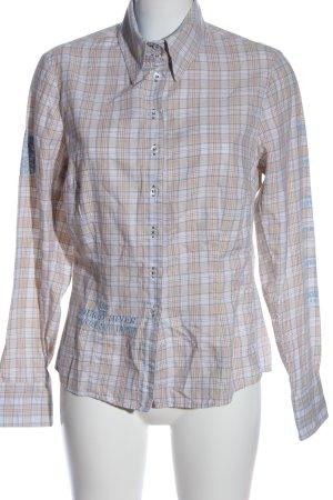 L'Argentina Long Sleeve Shirt cream-blue allover print casual look