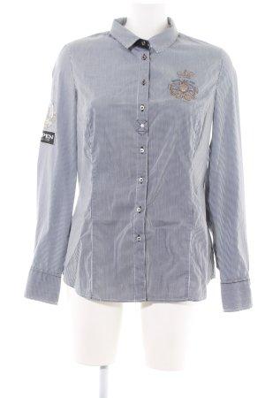 L'Argentina Langarmhemd schwarz-weiß Karomuster Casual-Look