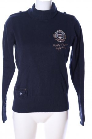 L'Argentina Turtleneck Sweater blue casual look