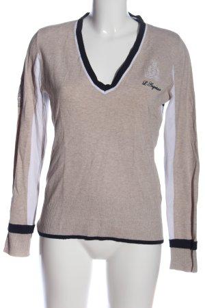 L'Argentina V-Ausschnitt-Pullover
