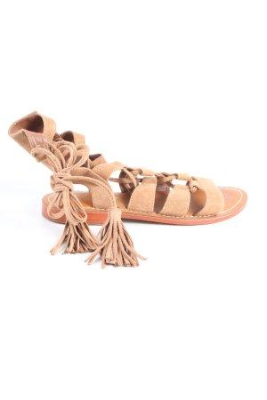 L'Atelier Tropezien Sandały rzymskie nude W stylu casual