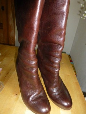 Heel Boots brown red leather