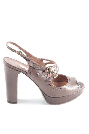 L'Autre Chose High Heel Sandaletten braun Elegant