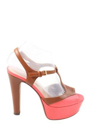 L'Autre Chose High Heel Sandaletten braun-pink Casual-Look
