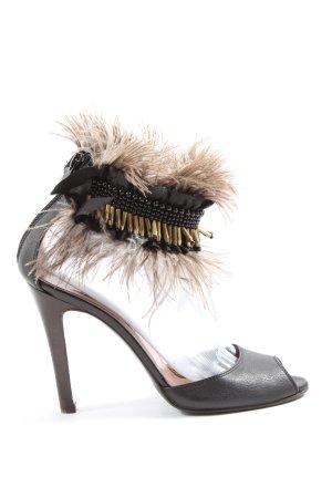 L'Autre Chose High Heel Sandaletten schwarz Elegant