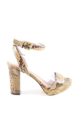 L'Autre Chose Riemchen-Sandaletten Animalmuster Elegant