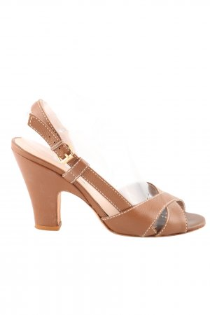 L'Autre Chose Slingback Pumps brown casual look