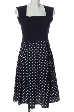 L.B.C A-Linien Kleid schwarz-weiß Punktemuster Casual-Look