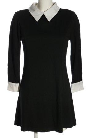 L.B.C Blusenkleid schwarz-weiß Casual-Look