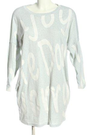 L.B.C Vestido de tela de sudadera gris claro-blanco moteado look casual