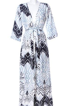 L.B.C Kopertowa sukienka Wielokolorowy Tkanina z mieszanych włókien