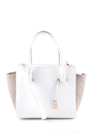 L.credi Handtasche weiß-wollweiß Business-Look