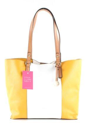 L.credi Handtasche weiß-blassgelb Casual-Look
