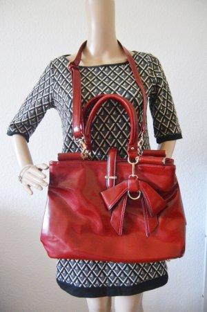 L.Credi rote Handtasche