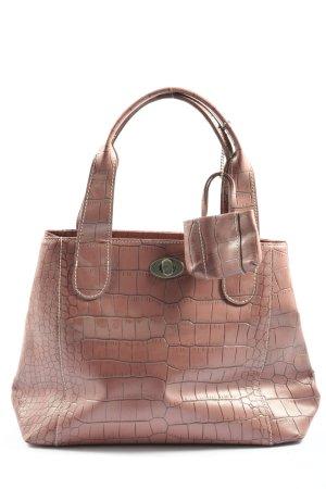 L.credi Handtasche pink Allover-Druck Casual-Look